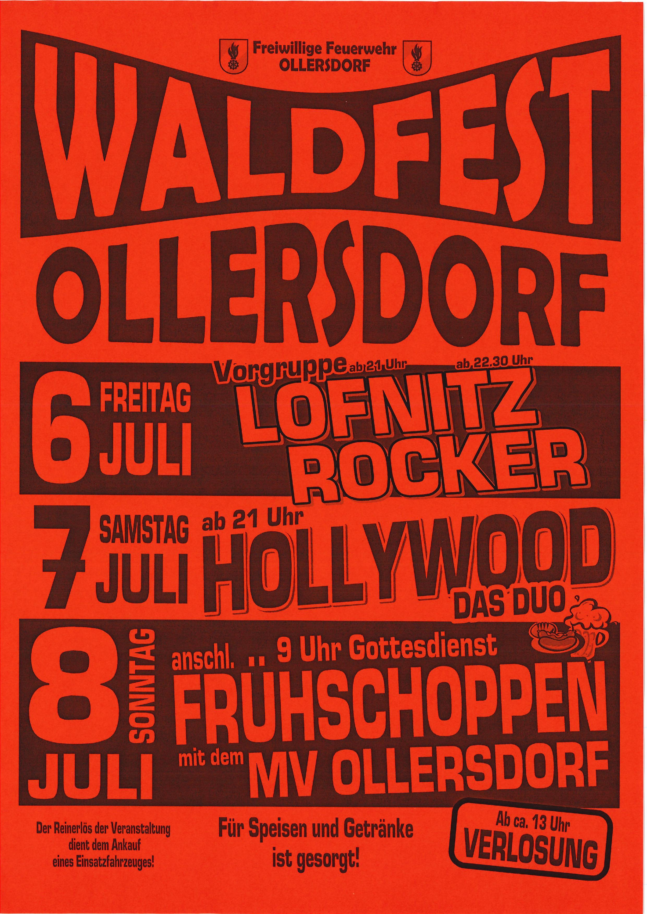2018 07 06 – 2018 07 08 WALDFEST FF OLLERSDORF